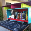 Mitzi Gordon of Bluebird books has opened four book exchange boxes in the Tampa Bay area, the latest in Seminole Heights. - Credit: Photo courtesy Openbookexchange.org