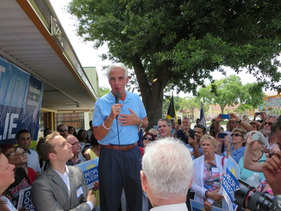 Charlie Crist in St. Pete - Credit: Samuel Johnson