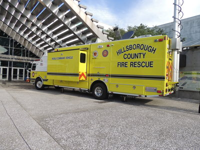 Emergency response vehicles lined sections of MOSI in June for the city's anual hurricane expo.  - Credit: Janelle Irwin
