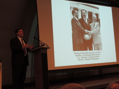 John Schmelzer from the EEOC talks about the history of the Civil Rights Act. - Credit: Janelle Irwin
