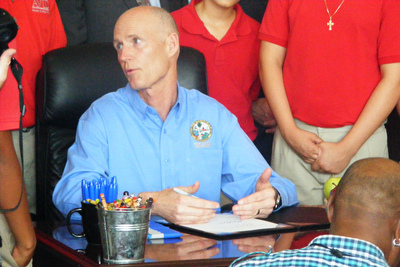 Florida Governor Rick Scott (2012). - Credit: Janelle Irwin/WMNF News.