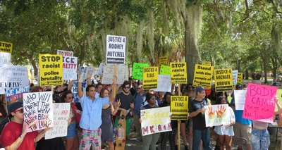 St Pete Rally Against Police Violence and Militarization  - Credit: Samuel Johnson