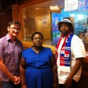 Fight for 15 advocates, from left to right: Kelly Benjamin,Nadaije Pail Jajoute, and Bleu Rainer