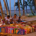 Native Wayuu people selling hand woven bags in Riohacha,Columbia