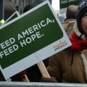 Feeding America supporter in Boston. Photo by WEBN-TV via Flickr