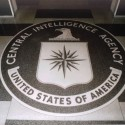 A seal that is inlaid in granite in the lobby of the Old Headquarters Building of the CIA