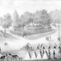 Lithograph of Fort Brooke near Tampa Bay. Photo By Unknown - State Archives of Florida, Florida Memory, Public Domain via wikicommons