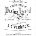 "Unauthorized sheet music to ""Dixie"", published by P. P. Werlein and Halsey of New Orleans, Louisiana in 1860"