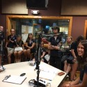 The class of High School students from Sweden, who stopped by the WMNF studios  during a sailing field trip around the Caribbean.