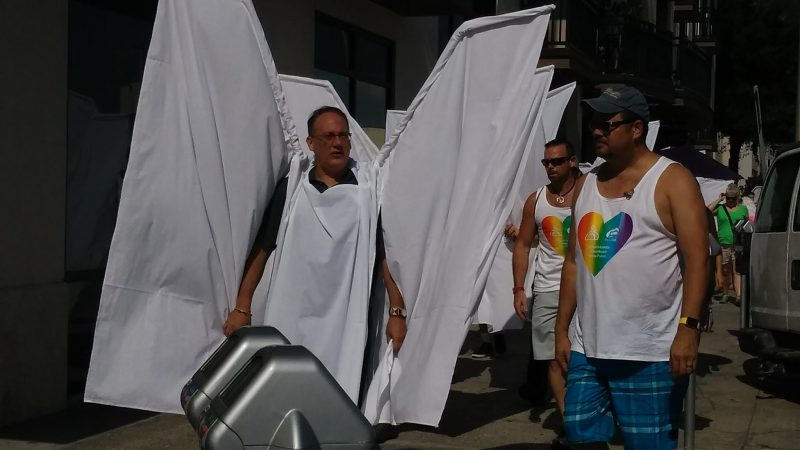 Angel wings at Pulse shooting funeral