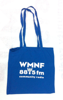 WMNF 100% Cotton Blue Tote Bag