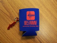 WMNF Beverage Koozie and Shark Bottle Opener