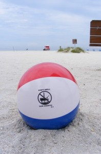 """""""Don't Drill Our Coasts"""" beach ball. offshore drilling"""
