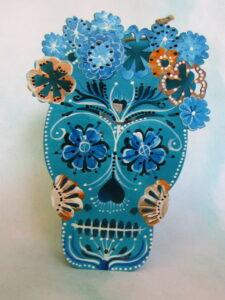Blue skull by Natty Moss Bond