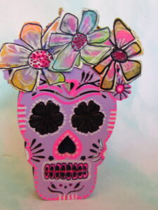 Pink skull by Marianne Wysocki