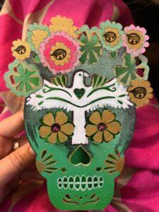 Green skull by Jennifer Kosharek