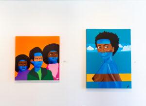 2 paintings by Briauna Walker