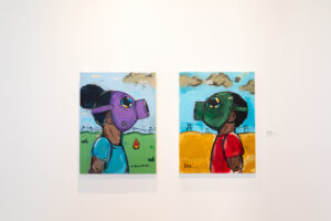 2 paintings by Ron Simmons