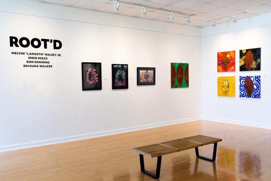 Group shot of Root'd art show