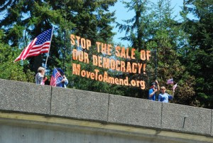 A Move to Amend protest against citizens united