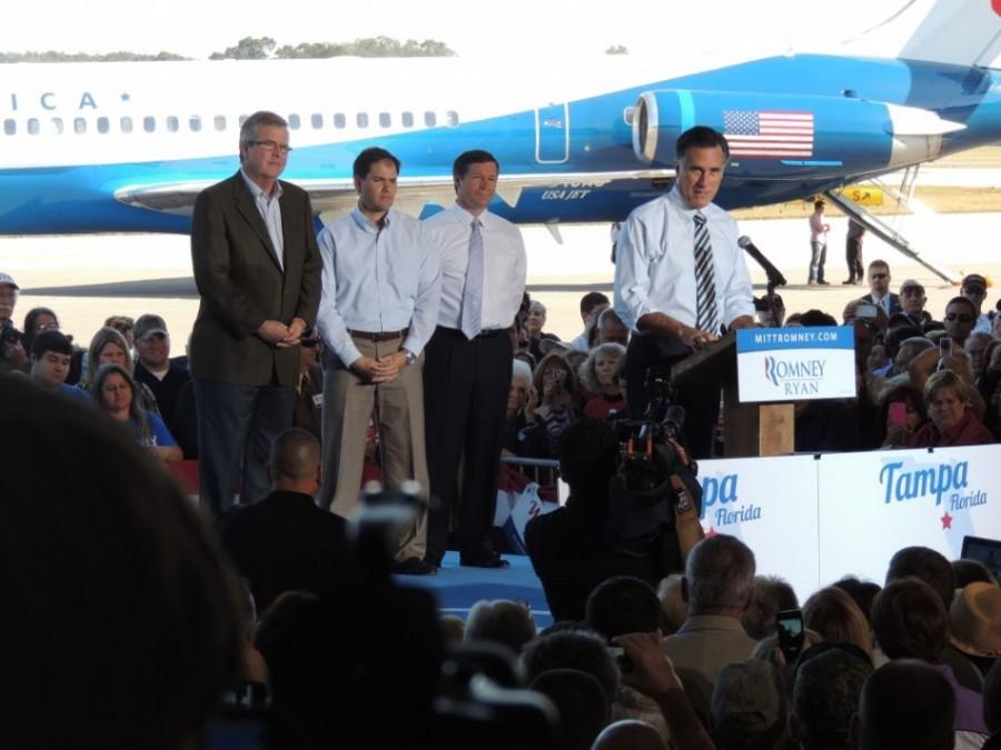 Jeb Bush Marco Rubio Mitt Romney 2012 Oct 31