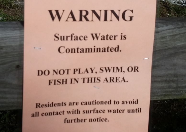 contamination sign