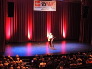 Wonderful WMNF crowd at the Palladium for Dr. Wolff
