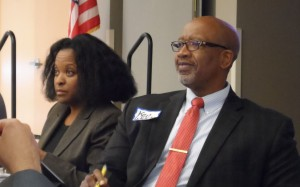 Pinellas County Commissioner Ken Welch (right) and Nikki Gaskin-Capehart