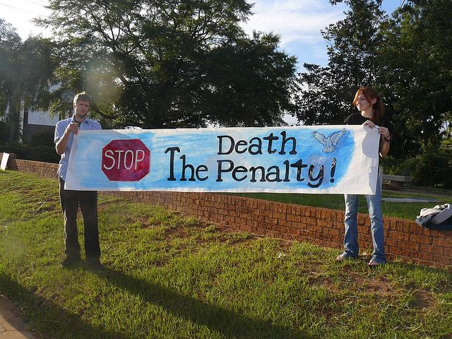 Anti-death penalty sign