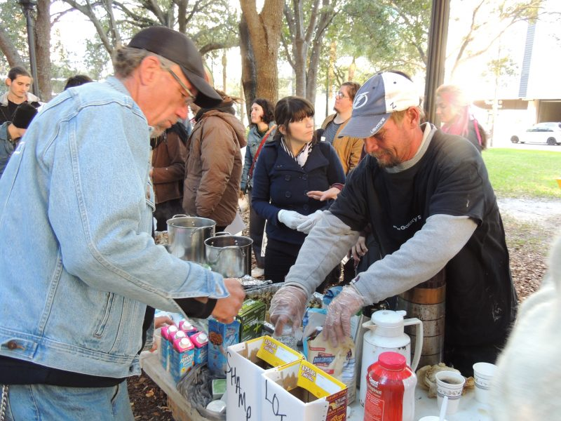 Tampa Food Not Bombs Dezeray Lyn homelessness homeless William Payton
