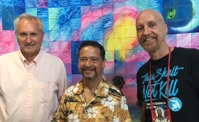 Juan Melendez and Mark Elliott with host Rob Lorei