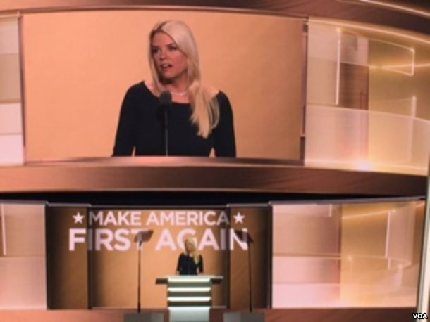 Pam Bondi speaks during the third day of the 2016 RNC
