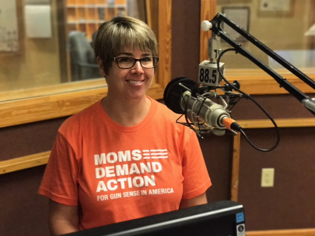 Michelle Gajda, with Moms Demand Action for Gunsense, at WMNF