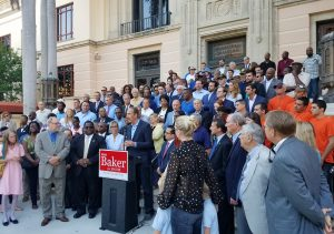 St. Pete mayor announcement at City Hall Rick Baker