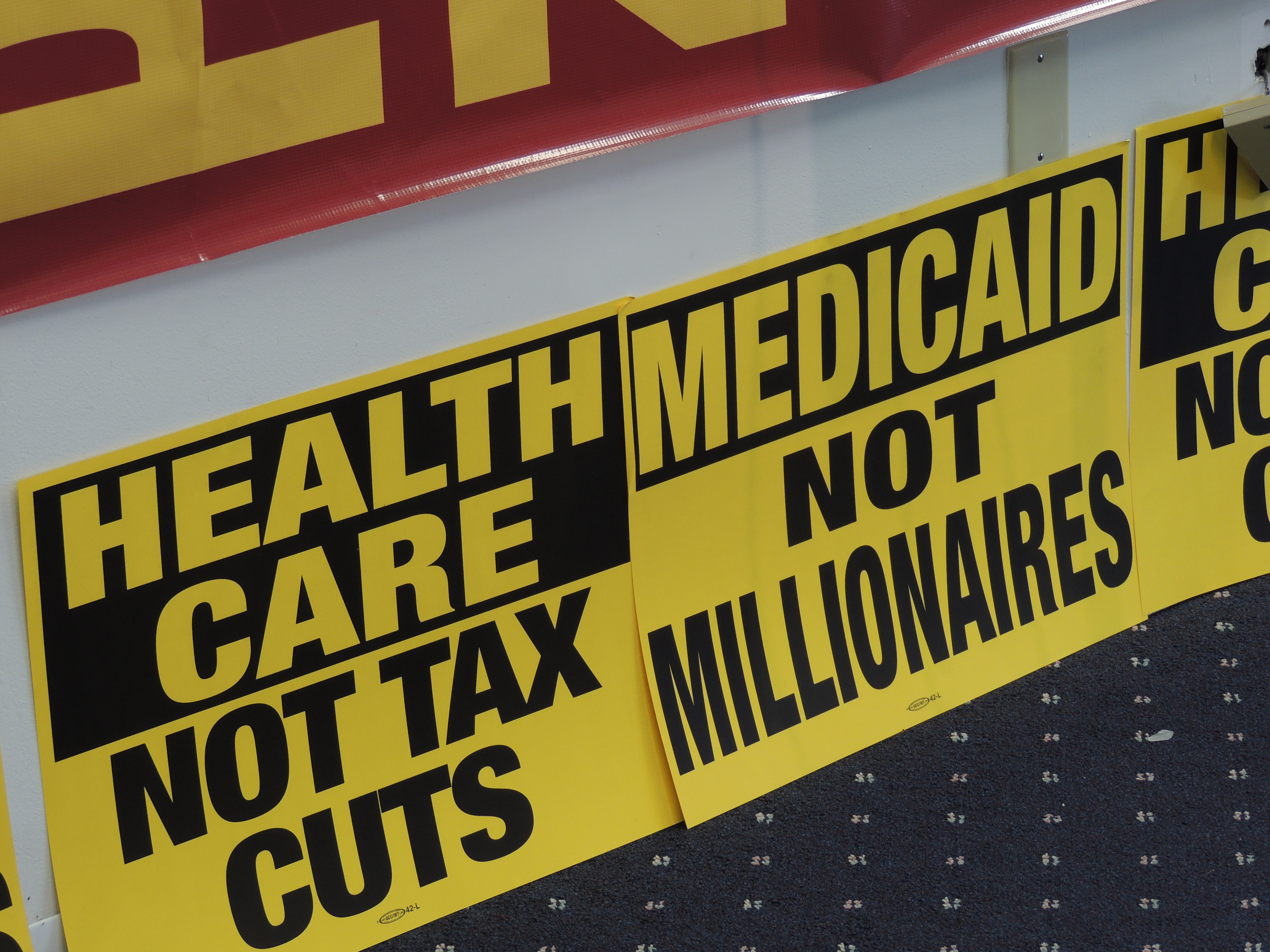 Health Care, not tax cuts. Medicaid, not millionaires. Trumpcare. AHCA. Senate healthcare bill