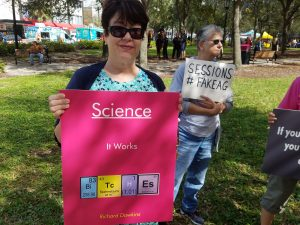 Jeff Sessions protest science