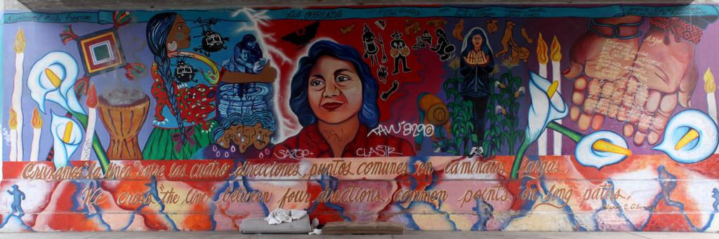 Dolores Huerta mural labor farmworker migrants immigrants unions boycott