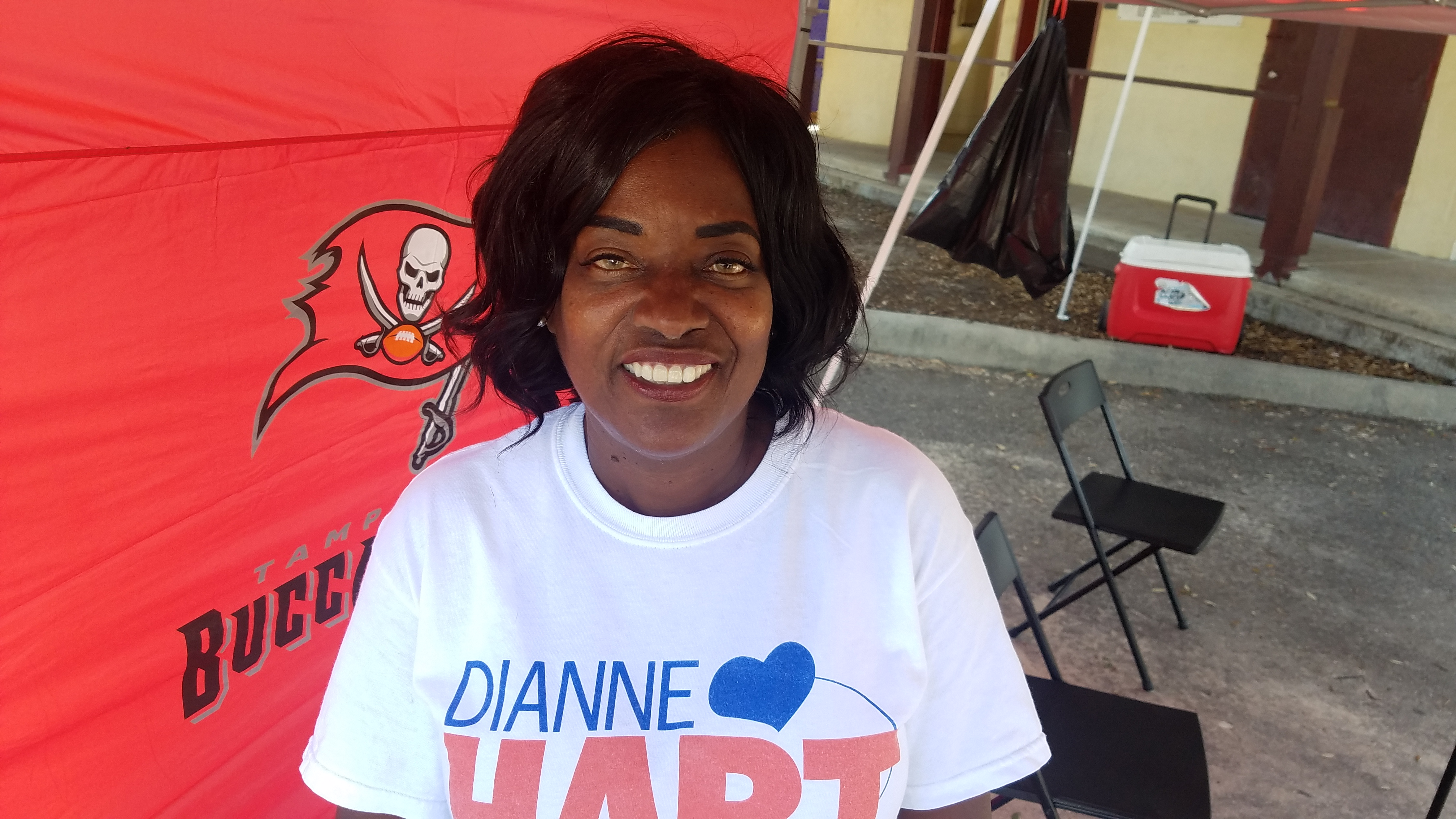 Dianne Hart on Primary Election Day, 2018