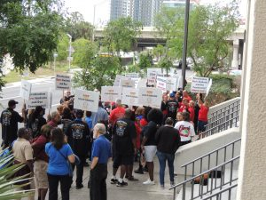 rally demonstration HSEF Hillsborough Schools Employees Federation