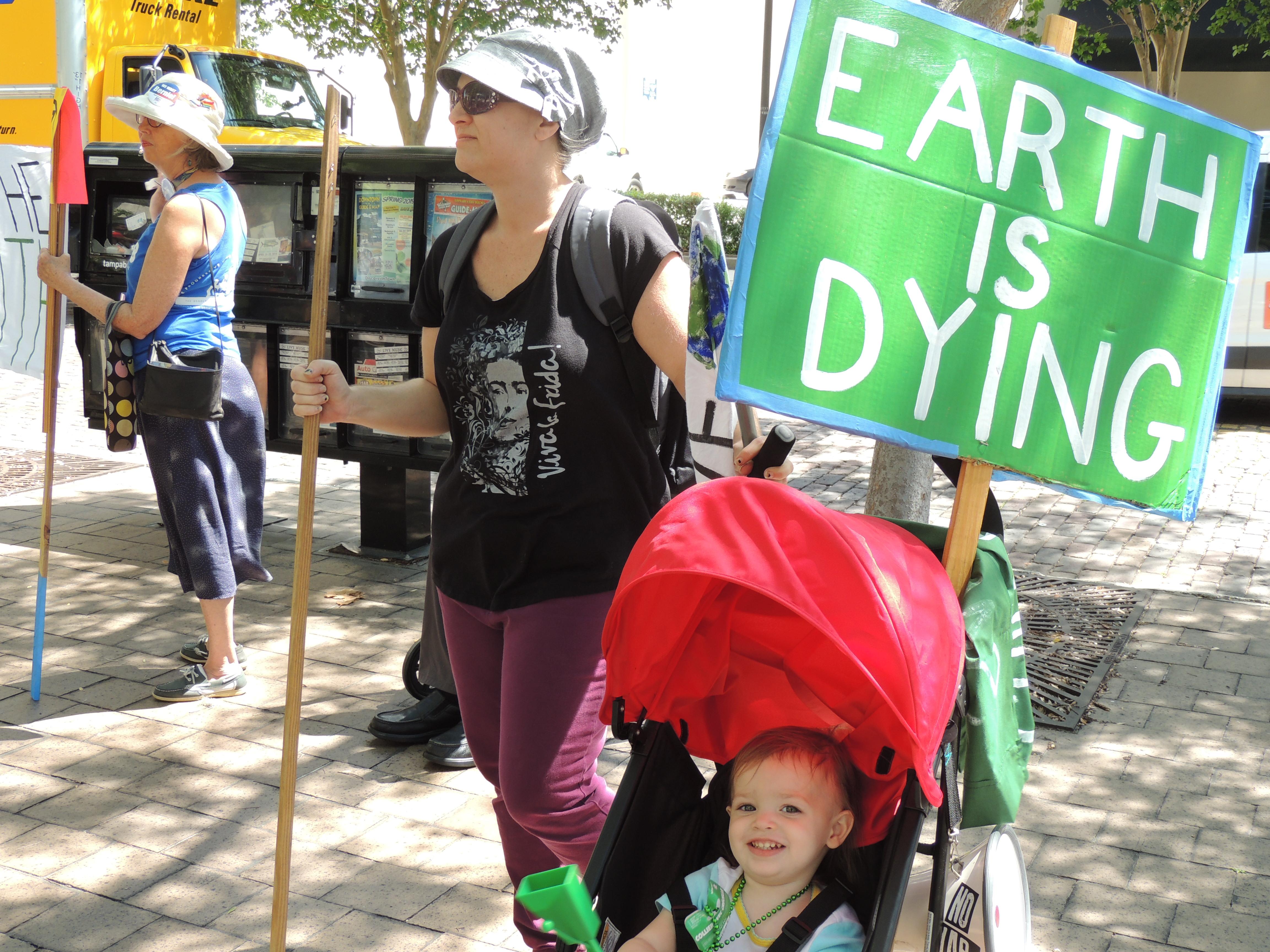 Tampa Electric TECO Extinction Rebellion Florida climate change protest