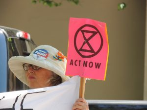 Extinction Rebellion climate change protest in Florida TECO Tampa Electric