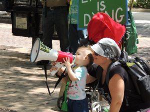 Extinction Rebellion climate change protest Tampa Electric TECO Florida