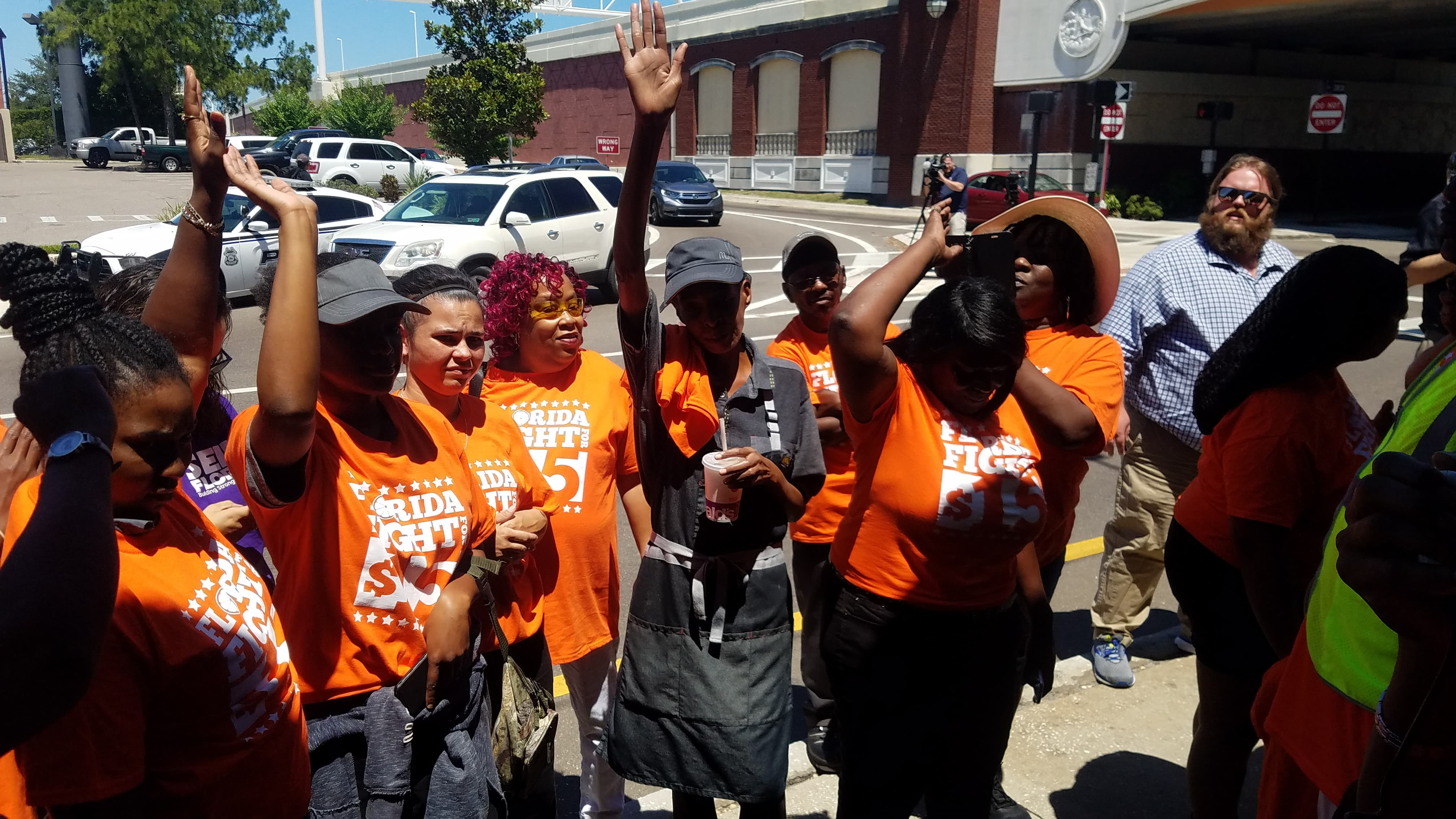 labor unions fight for 14 striking workers