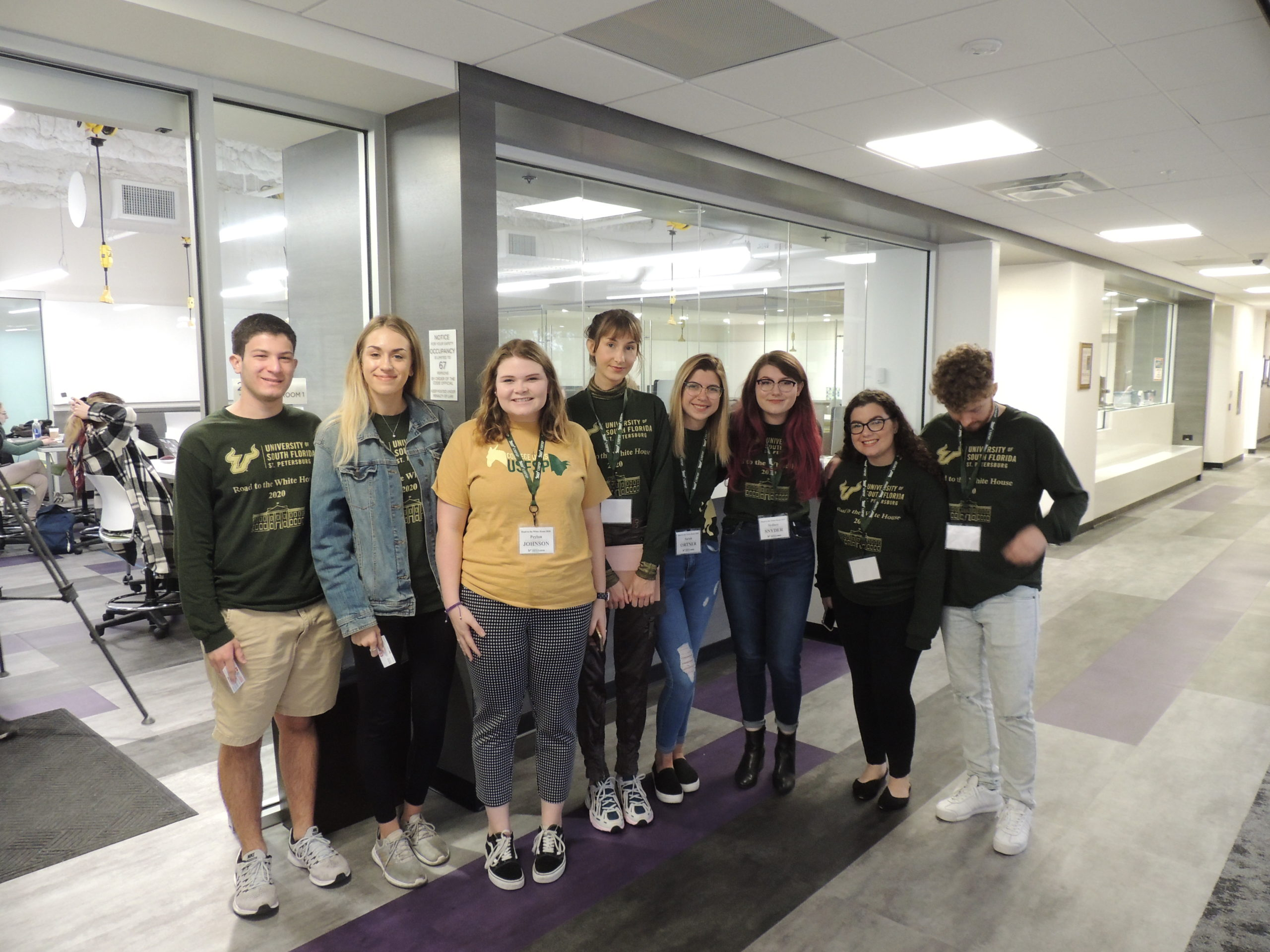 University of South Florida students work on 2020 election