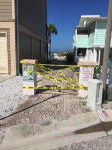 coronavirus beach closure by Flee
