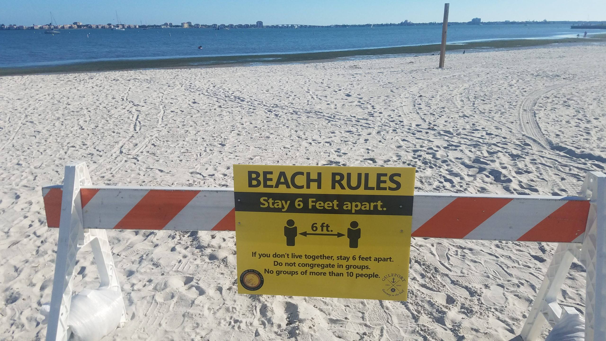 Gulfport Beach reopen during coronavirus pandemic