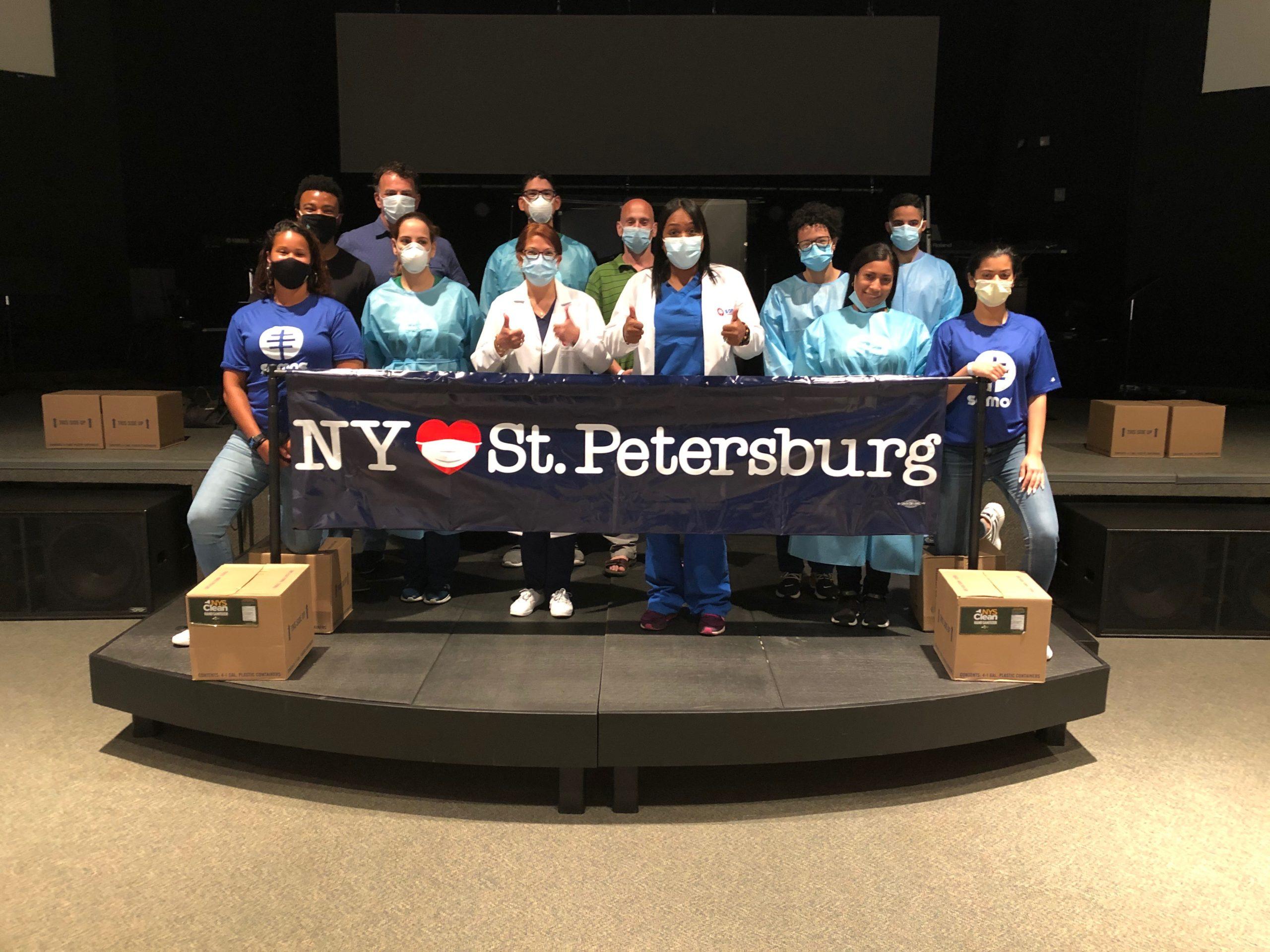 St. Petersburg coronavirus testing site