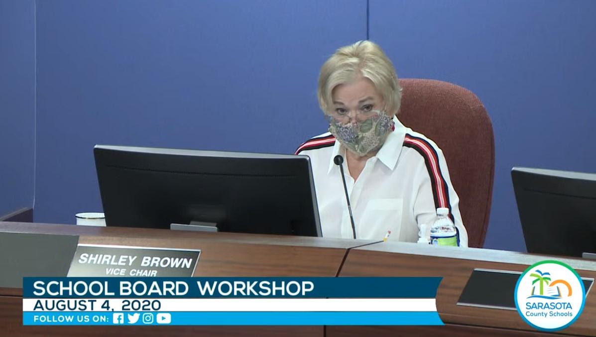 Sarasota School Board On Coronavirus Reopening Shirley Brown 4 Aug 2020