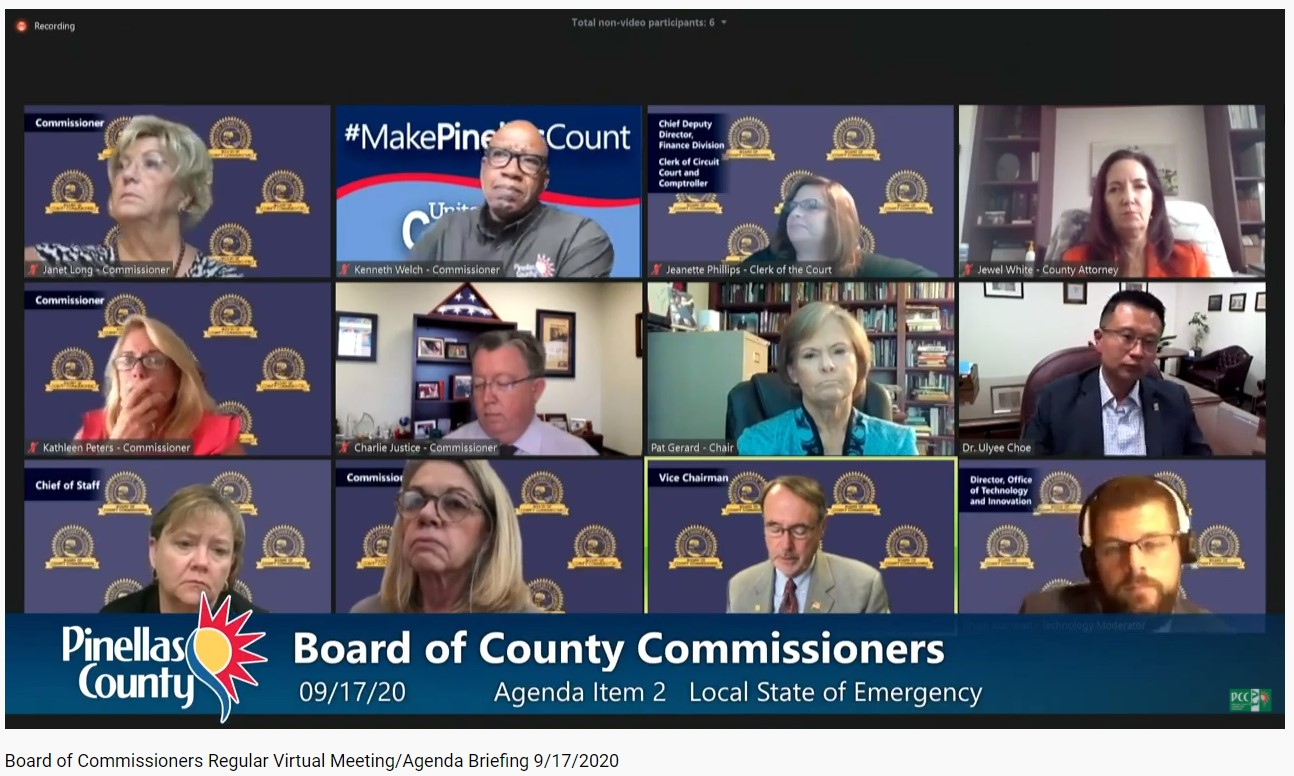coronavirus masks Pinellas County vote COVID-19