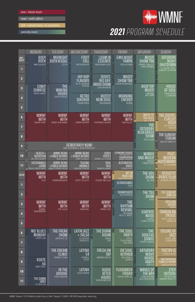 WMNF 2021 Program Schedule